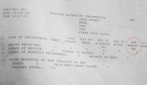OK Housing Authority Benefit Statement Medicaid Proof